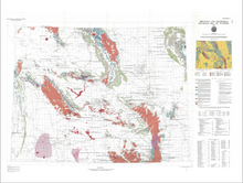 Metallic and Industrial Minerals Map of Wyoming (1985)