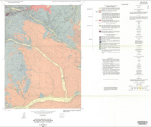 Revised Geologic Map of the Atlantic City Quadrangle, Fremont County, Wyoming (1989)