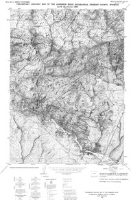 Preliminary Geologic Map of the Anderson Ridge Quadrangle, Fremont County, Wyoming (1986)