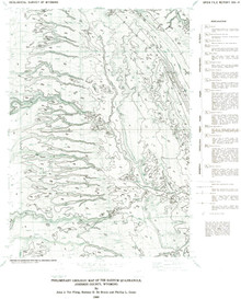 Preliminary Geologic Map of the Barnum Quadrangle, Johnson County, Wyoming (1988)