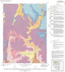 Geologic Map of the Beartrap Meadows Quadrangle, Johnson County, Wyoming (1995)