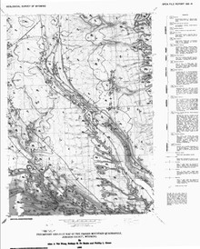 Preliminary Geologic Map of the Fraker Mountain Quadrangle, Johnson County, Wyoming (1988)