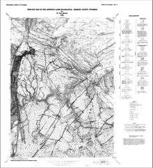 Geologic Map of the Lewiston Lakes Quadrangle, Fremont County, Wyoming (1988)