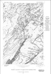 Preliminary Geologic Map of the Medicine Bow Peak Quadrangle, Wyoming (1977)