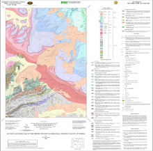 Revised Geologic Map of the Miners Delight Quadrangle, Fremont County, Wyoming (2006) *FOLDED MAP*
