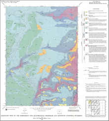 Geologic Map of the Monument Hill Quadrangle, Washakie and Johnson Counties, Wyoming (1995)