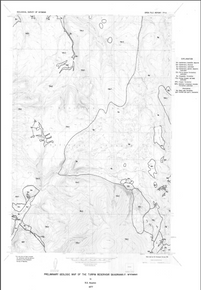 Preliminary Geologic Map of the Turpin Reservoir Quadrangle, Wyoming (1977)