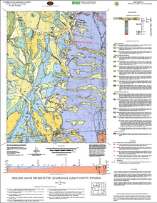 Geologic Map of the Red Buttes Quadrangle, Albany County, Wyoming (2007)