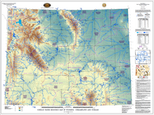 Surface Water Resource Map of Wyoming: Streamflows and Storage (2009)