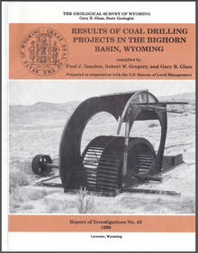Results of Coal Drilling Projects in the Bighorn Basin, Wyoming (1990)