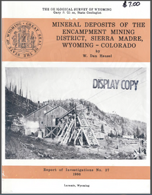 Mineral Deposits of the Encampment Mining District, Sierra Madre, Wyoming/Colorado (1986)