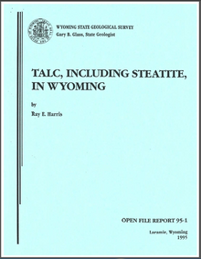 Talc, Including Steatite, in Wyoming (1995)