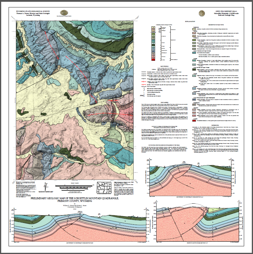 Preliminary Geologic Map Of The Schoettlin Mountain Quadrangle
