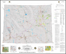 Carbon Dioxide (CO2) Map of Wyoming: Showing Major Pipelines and Oil Fields that are Targets for Enhanced Oil Recovery Using CO2 (2012)
