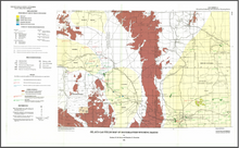 Oil and Gas Fields Map of Southeastern Wyoming Basins (1993)