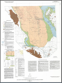 Coal Map of the Powder River Basin and Adjacent Areas, Wyoming (1990)