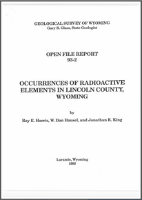 Occurrences of Radioactive Elements in Lincoln County, Wyoming (1993)