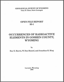 Occurrences of Radioactive Elements in Goshen County, Wyoming (1993)