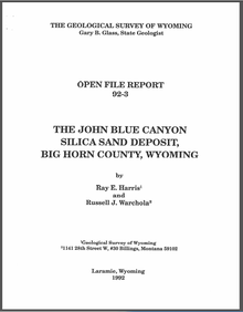 John Blue Canyon Silica Sand Deposit, Big Horn County, Wyoming (1992)
