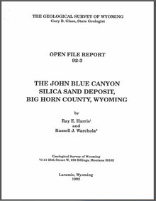John Blue Canyon Silica Sand Deposit, Big Horn County, Wyoming (1992)