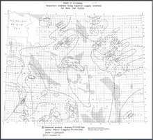 State of Wyoming temperature gradients during electrical logging conditions for wells over 10,000 (1976)