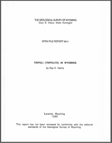 Tripoli (Tripolite) in Wyoming (1989)