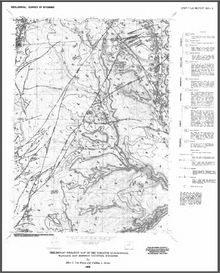 Preliminary Geologic Map of the Tabletop Quadrangle, Washakie and Johnson Counties, Wyoming (1987)
