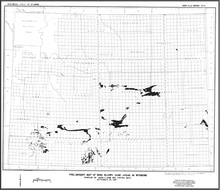 Preliminary Map of Wind Blown Sand Areas in Wyoming (1987)