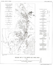 Geologic Map of the Copper Belt Mines Area (1966)