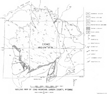 Geologic Map of Coad Mountain, Carbon County, Wyoming (1967)