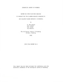 Report on Investigations Related to Prospecting for Diamond-Bearing Kimberlite and Related Placer Deposits in Wyoming (1982)