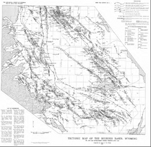 Tectonic Map of the Bighorn Basin, Wyoming (1985)