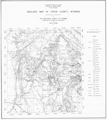 Geologic Map of Crook County, Wyoming (1936)