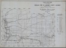 Geologic Map of Laramie County, Wyoming (1937)