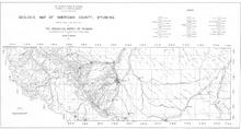 Geologic Map of  Sheridan County, Wyoming (1937)