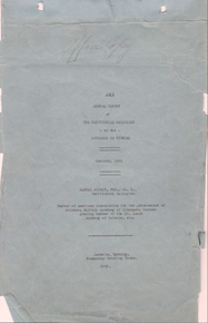 Annual Report of the Territorial Geologist (1886)