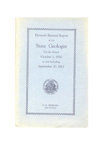 Eleventh Biennial Report of the State Geologist (1922)
