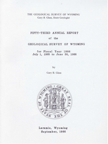 Fifty-Third Annual Report of the Geological Survey of Wyoming (1986)