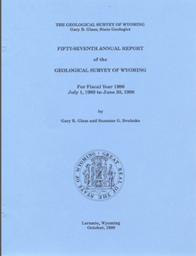Fifty-Seventh Annual Report of the Geological Survey of Wyoming (1990)