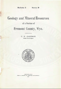 Geology and Mineral Resources of a Portion of Fremont County, Wyoming (1911)
