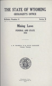 Mining Laws Federal and State 1913 (1913)