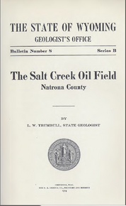 Salt Creek Oil Field, Natrona County (1914)