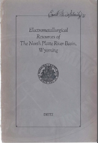 Electrometallurgical Resources of the North Platte River Basin, Wyoming (1932)