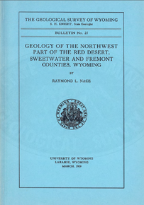 Geology of the Northwest Part of the Red Desert, Sweetwater and Fremont Counties, Wyoming (1939)