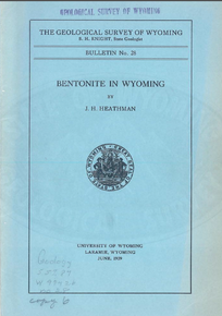 Bentonite in Wyoming (1939)