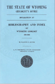 Bibliography and Index of Wyoming Geology 1823–1916 (1918)