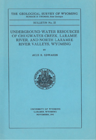 Underground Water Resources of Chugwater Creek, Laramie River and North Laramie River Valleys, Wyoming (1941)