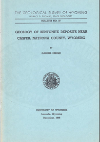 Geology of Bentonite Deposits near Casper, Natrona County, Wyoming (1946)