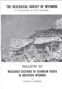 Measured Sections of Devonian Rocks in Northern Wyoming (1967)