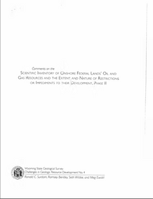 Comments on the Scientific Inventory of Onshore Federal Lands' Oil and Gas Resources and the Extent and Nature of Restrictions or Impediments to their Development, Phase II (2007)